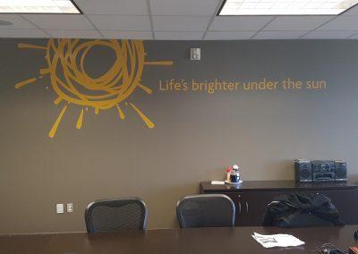 sunlife wall